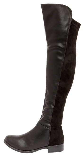 Item - Black Vegan Suede Leather Boots/Booties Size US 8.5
