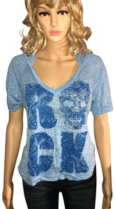 Daytrip T Shirt Blue with silver studs