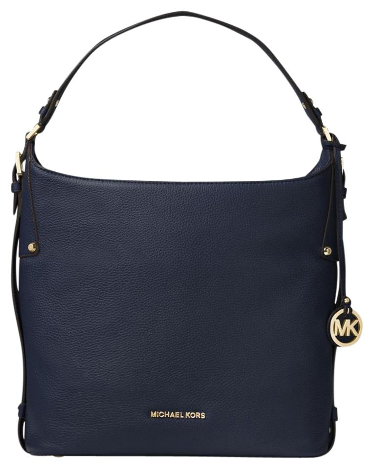 1109e932b4d0 Michael Kors Bedford Belted Large Hobo Admiral Gold Leather Shoulder ...