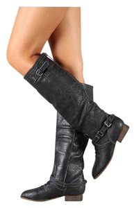 Breckelle's Black with Blue contrast zipper Boots