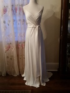 J.Crew Grecian Goddess Style Wedding Dress With Belt And V-neck Line Wedding Dress