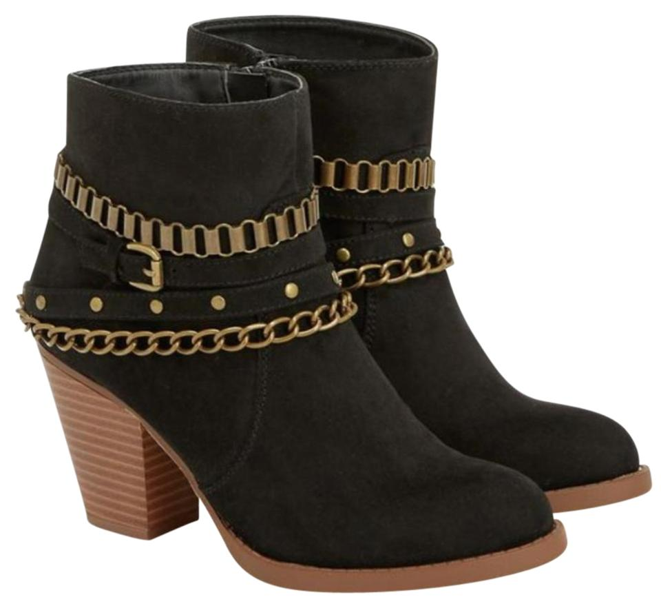 80bf9e1ee57 JustFab Chained Boots Booties Size US 8 Regular (M
