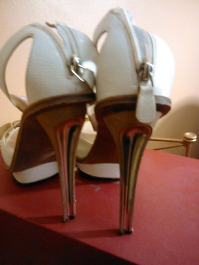Salvatore Ferragamo Ivory/Cream Platforms