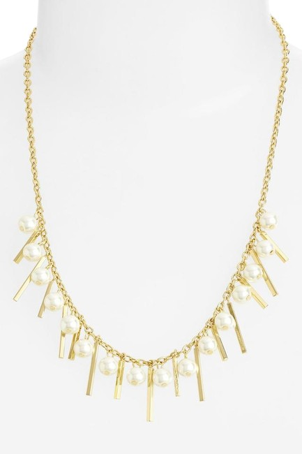 Item - Gold Pearl New Statement Charm Collar And Necklace