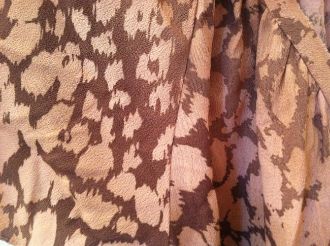 Rebecca Taylor short dress Tan Buff Print on Tradesy