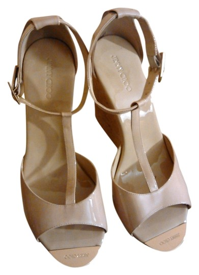 Jimmy Choo Wedge beige Platforms