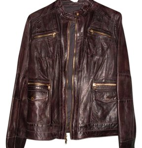 Wilsons Leather Genuine Cotton Lining Gold Hardware New Brown Jacket
