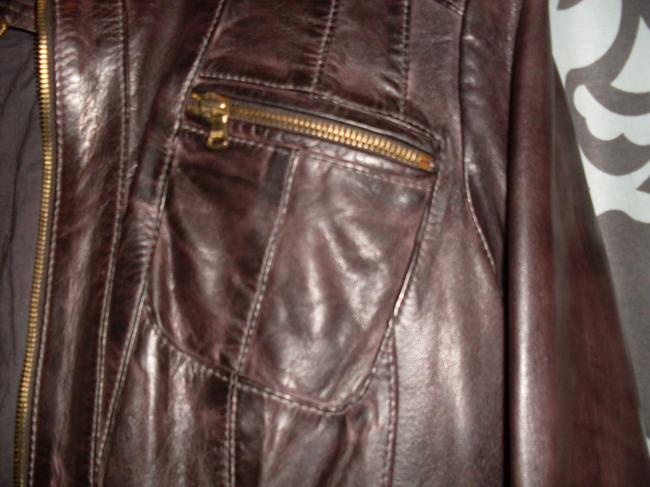 Wilsons Leather Genuine Cotton Lining Gold Hardware New Brown Jacket Image 2