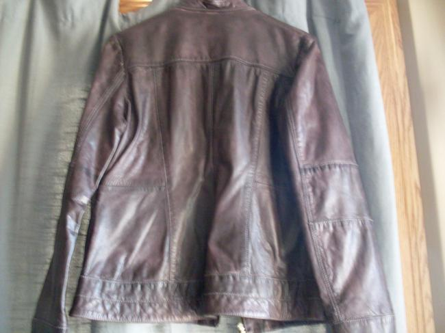 Wilsons Leather Genuine Cotton Lining Gold Hardware New Brown Jacket Image 3