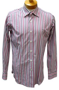 Etro Versace Gucci Snake Chanel Vintage Button Down Shirt Pink