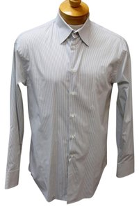Armani Collezioni Versace Gucci Snake Chanel Vintage Button Down Shirt White