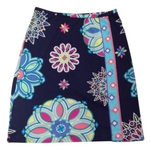 Emilio Pucci Skirt navy and multicolor