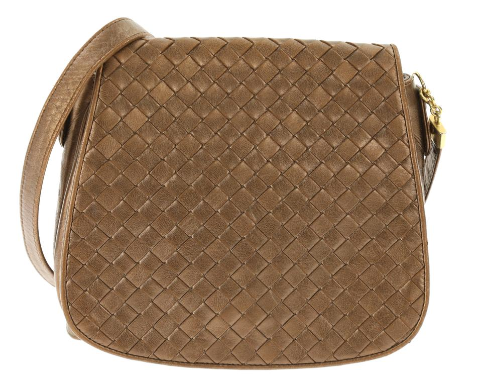 Bottega Veneta Small Flap Bronze Brown Leather Cross Body Bag - Tradesy b4ddbbc4ab30b