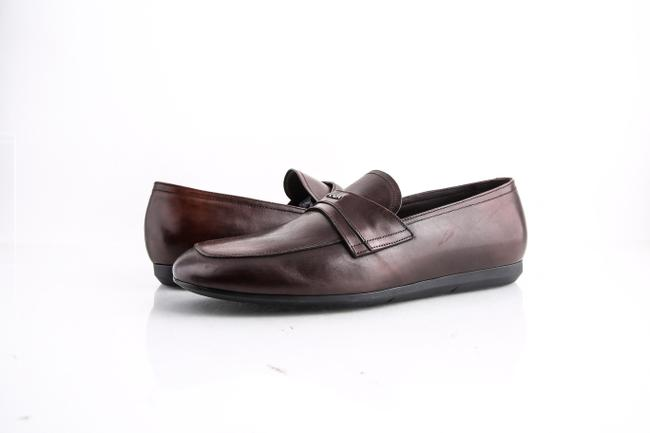 Item - Brown * Leather Loafers Shoes