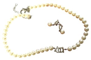 Salvatore Ferragamo Salvatore Ferragamo pearl earrings and necklace set