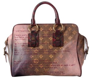 Louis Vuitton Lv.l0818.11 Purple Limited Edition Richard Prince Tote in Pink