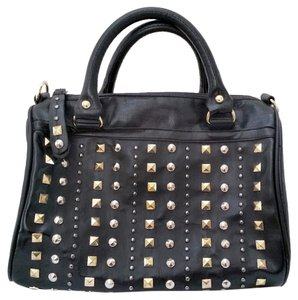 Steve Madden Studded Stud Handbag Women Chic Rock Glory Satchel in Black