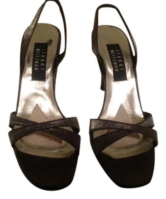 Item - Silver/Pewter Delovely Sandal Formal Shoes Size US 8 Narrow (Aa, N)