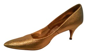 Scarpanelli New York Milan gold Pumps