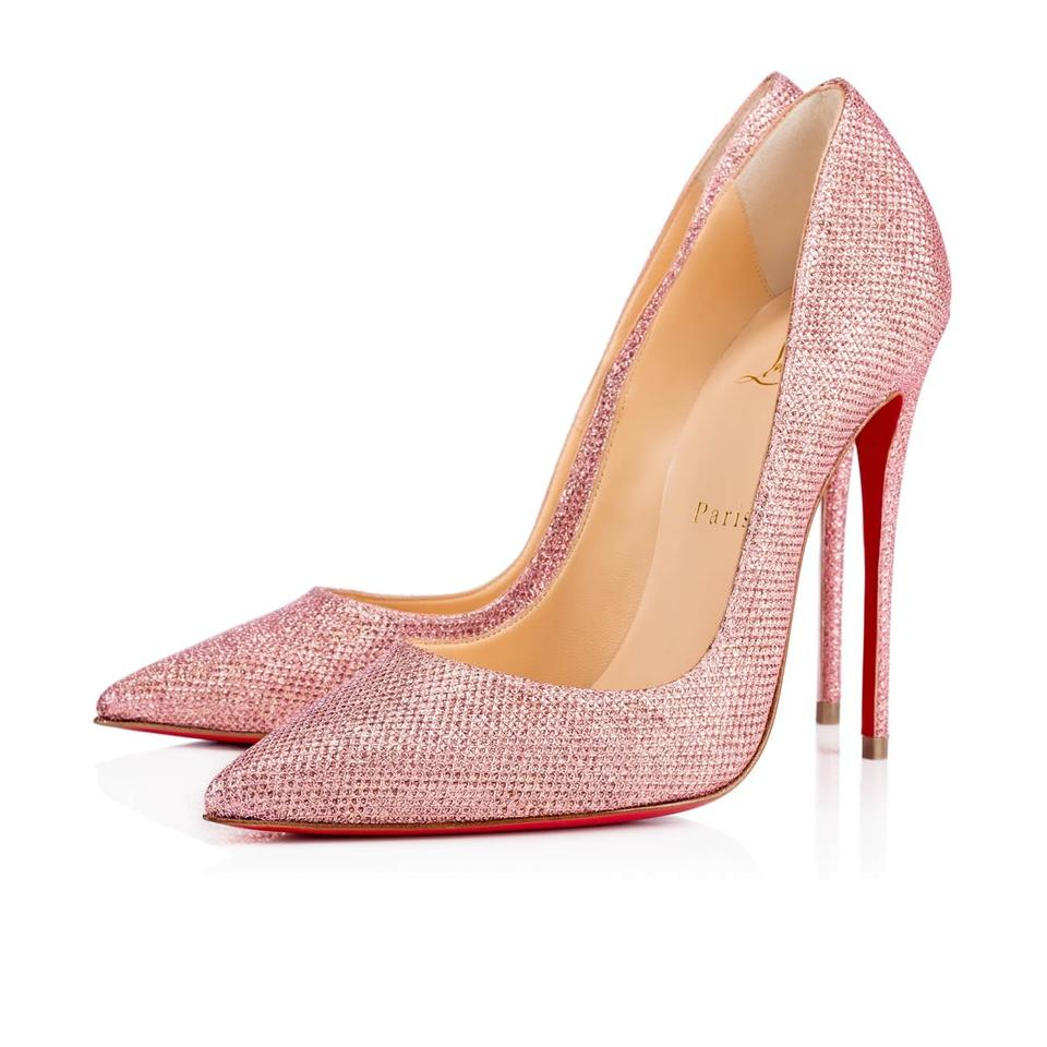 Christian Louboutin Pink So Kate 120 Poudre Glitter Tisse Heel Pumps ... 50713b924