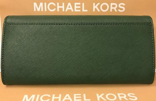 Michael Kors Michael Kors Jet set carryall Leather Wallet silver Image 3