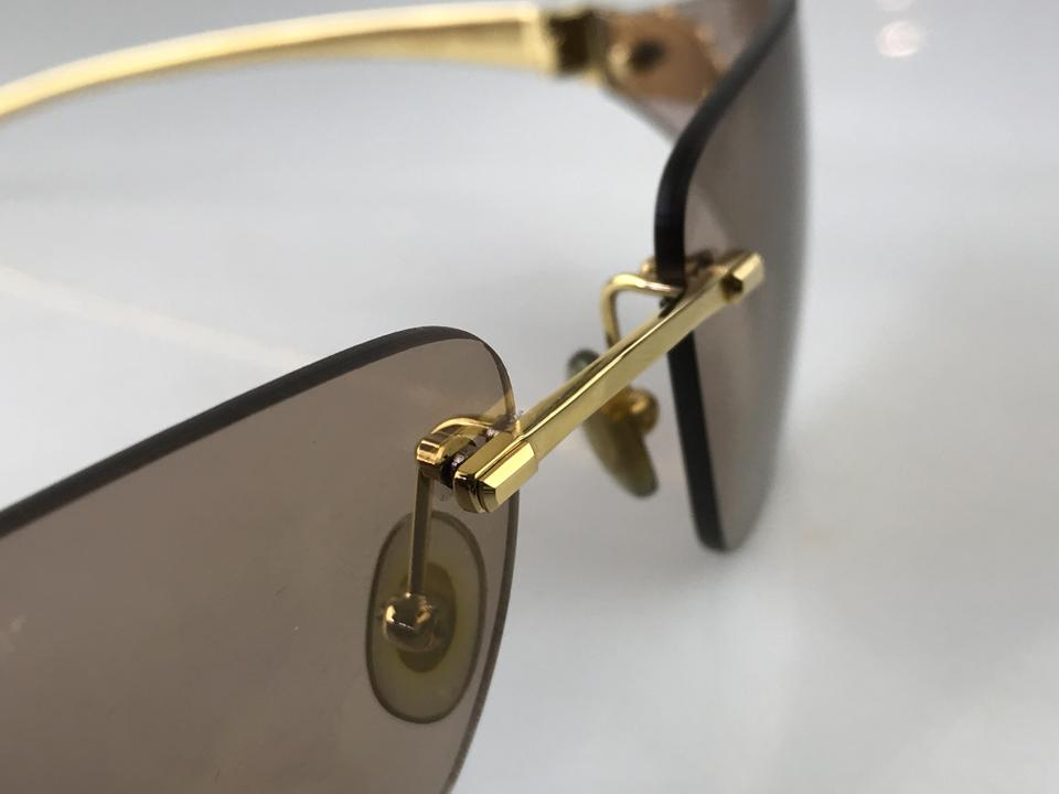9cd240ac299 Cartier Gold Panthere De Rimless Sunglasses - Tradesy
