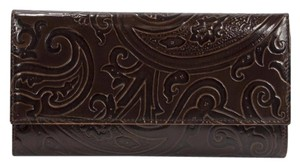 Etro Etro Paisley Embossed Leather large Trifold Wallet Made In Italy