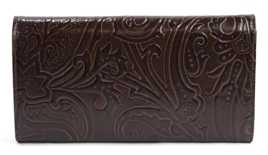 Etro Etro Paisley Embossed Leather large Trifold Wallet Made In Italy Image 1
