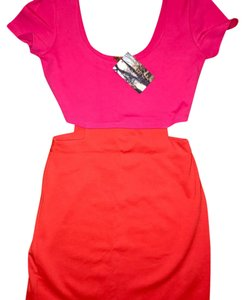 Lucca Couture short dress Pink and Orange on Tradesy