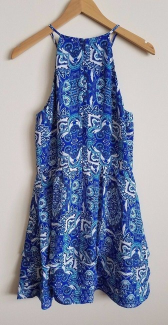 Parker Print Sleeveless Strappy Lined Ruffle Dress Image 10