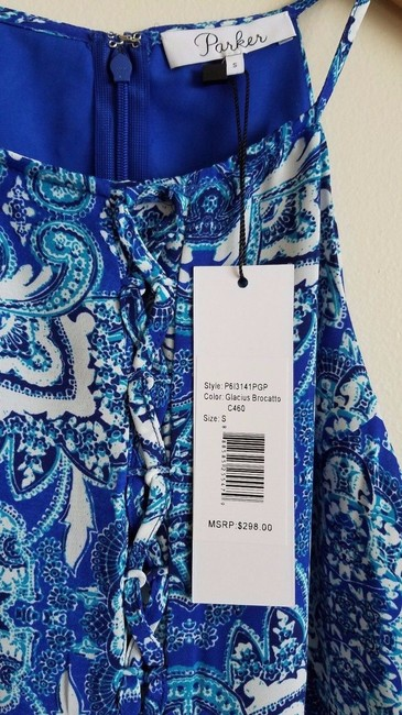 Parker Print Sleeveless Strappy Lined Ruffle Dress Image 11