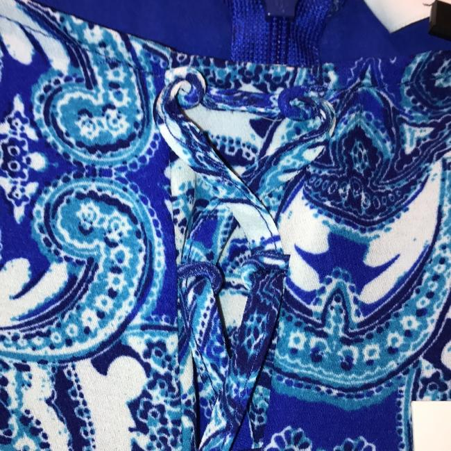 Parker Print Sleeveless Strappy Lined Ruffle Dress Image 2