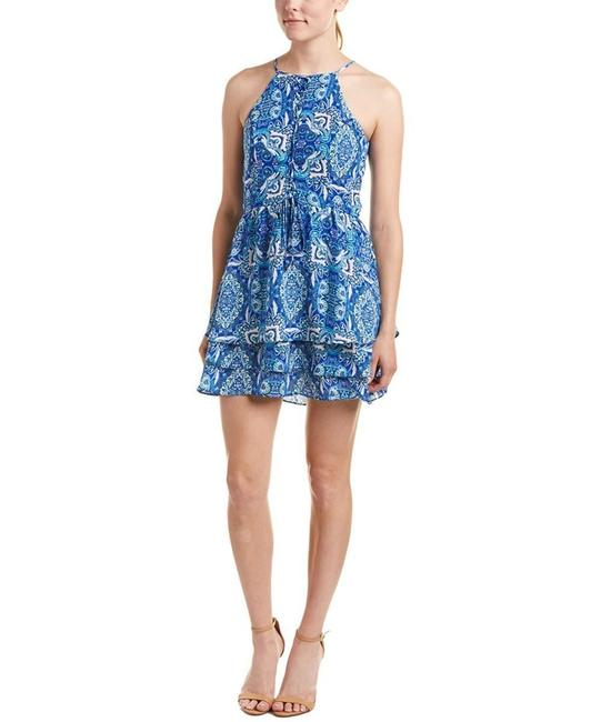 Parker Print Sleeveless Strappy Lined Ruffle Dress Image 8