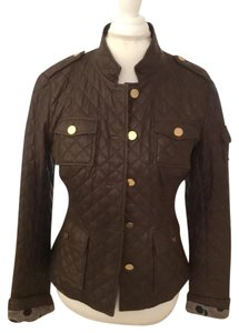 Tory Burch Chocolate Brown Leather Jacket