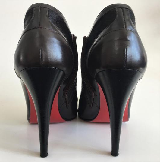 Christian Louboutin Thigh Daffodile Ankle Pumps Brown Boots Image 3