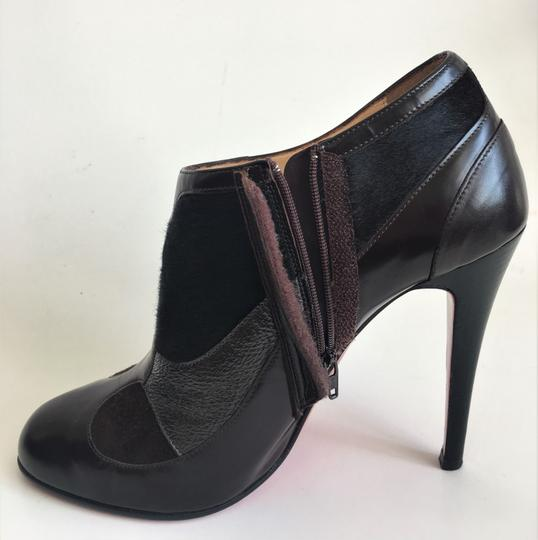 Christian Louboutin Thigh Daffodile Ankle Pumps Brown Boots Image 4