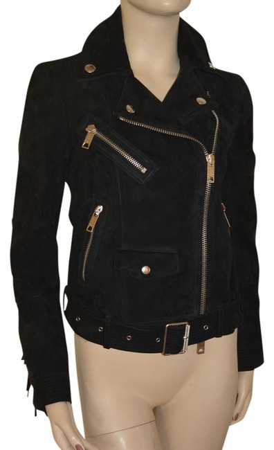 Burberry Leather Leather Suede Black Jacket Image 1
