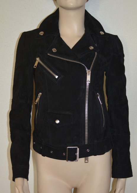 Burberry Leather Leather Suede Black Jacket Image 5