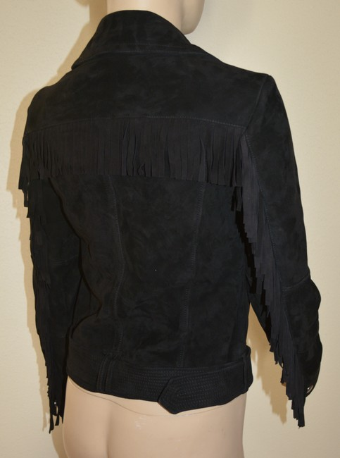Burberry Leather Leather Suede Black Jacket Image 8