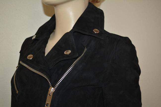 Burberry Leather Leather Suede Black Jacket Image 3