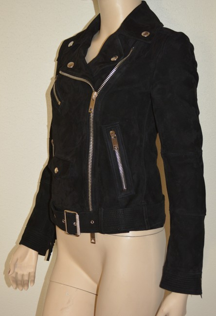 Burberry Leather Leather Suede Black Jacket Image 4