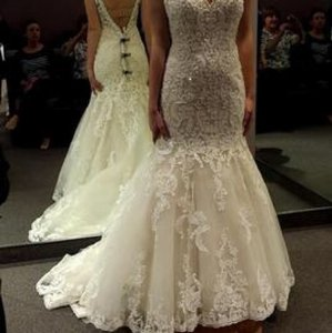 Kenneth Winston Ivory/Light Gold (Champagne Color) Lace Crystals ...