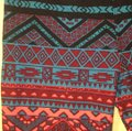 LuLaRoe Aztec pattern, multi (turquoise, pink, purple, black, red) Leggings Image 2