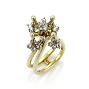 Other Vintage 1.00ct Diamond 14k Two Tone Gold Moveable Chandelier Ring