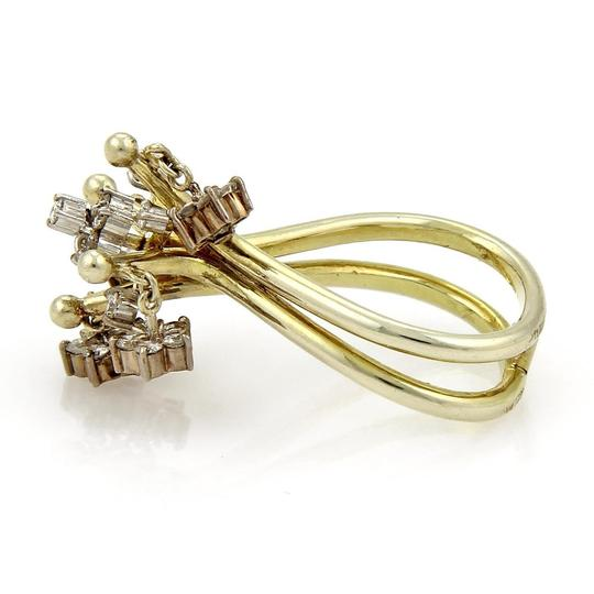 Other Vintage 1.00ct Diamond 14k Two Tone Gold Moveable Chandelier Ring Image 4