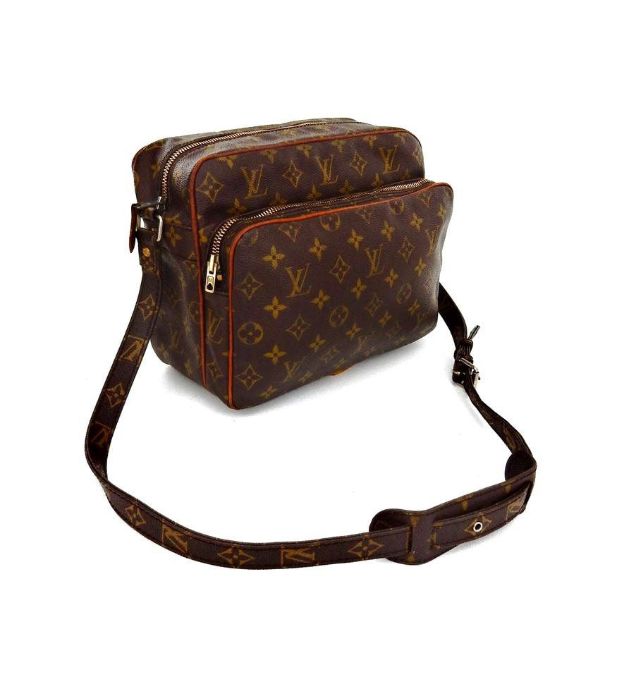 louis vuitton vintage nile monogram canvas leather crossbody messenger shoulder bag on tradesy. Black Bedroom Furniture Sets. Home Design Ideas