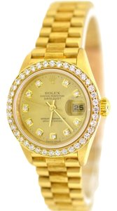 Rolex Rolex President Datejust 18K Gold Bark Finish Diamond 69278 26MM Lady