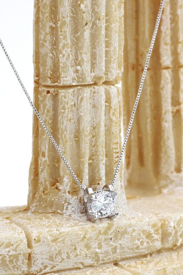 Ocean Fashion Single crystal silver necklace earrings set Image 5