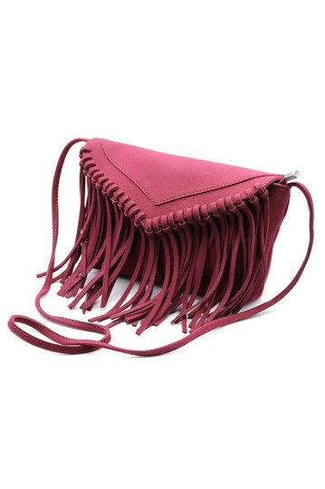 Preload https://img-static.tradesy.com/item/22119766/fringed-small-purse-red-suede-shoulder-bag-0-0-540-540.jpg