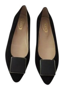 Tod's Stylish Comfortable Made In Italy Black Flats